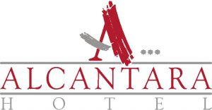 Logo Hotel Alcántara rojo más oscuro