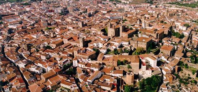 Foto aérea de Cáceres