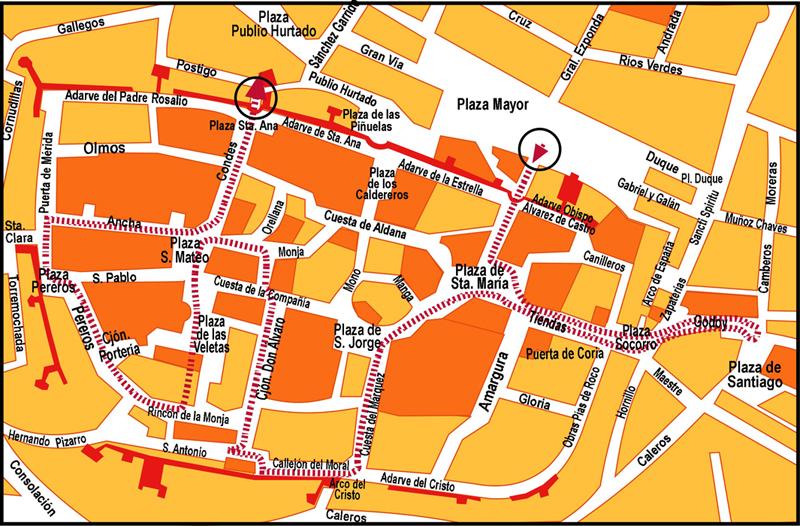 Plano Conjunto Monumental de Cáceres