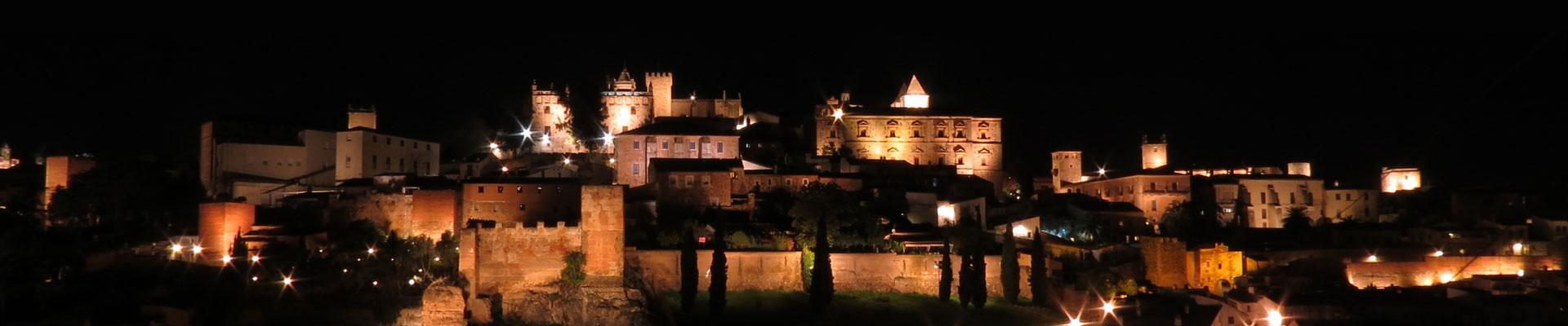 Vista de Cáceres Nocturna