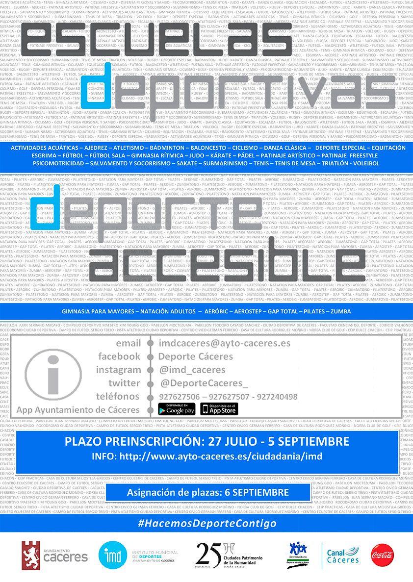 Cartel Escuelas deportivas 2018 2019