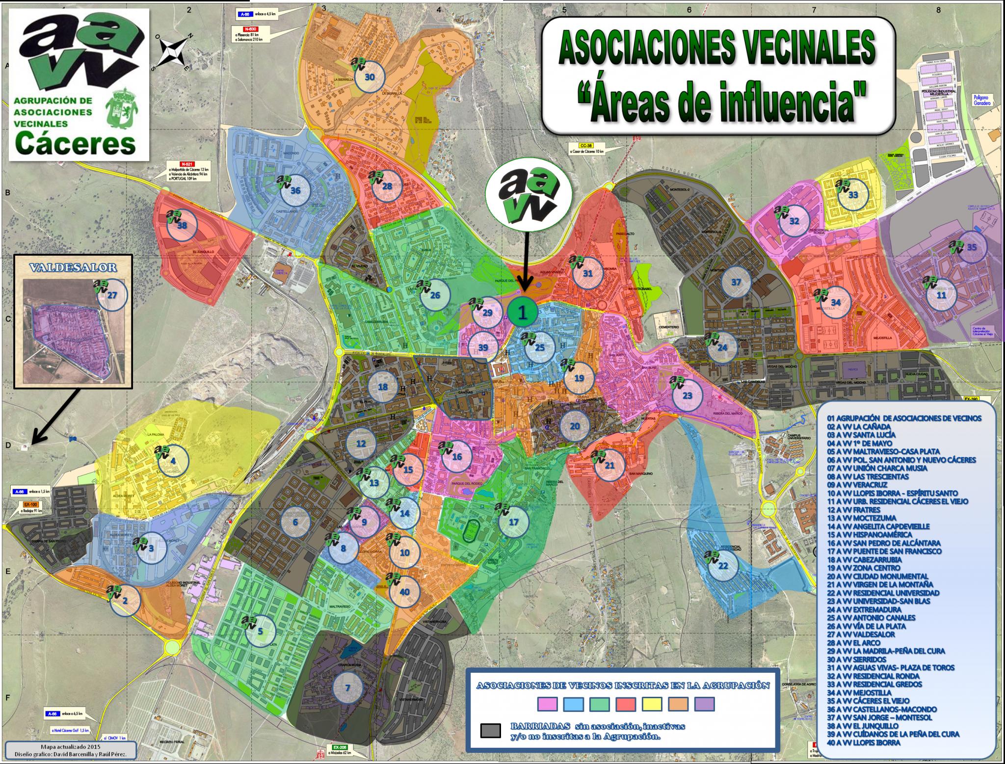 Mapa Territorial Vecinal de Cáceres