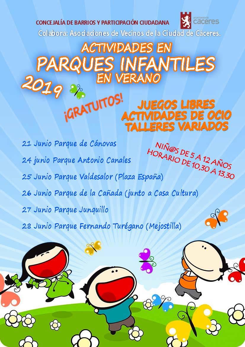 Actividades Parques Infantiles