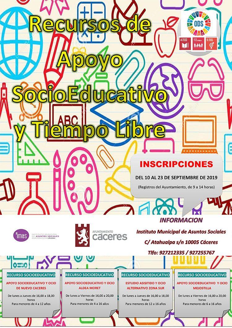 recursos socioeducativos del IMAS.