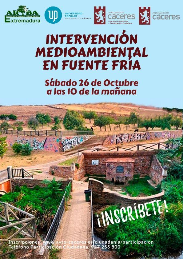 INTERVENCIÓN MEDIOAMBIENTAL EN FUENTE FRÍA