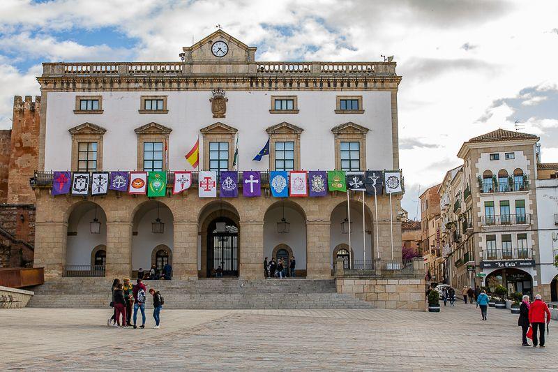 Fachada Ayuntamiento de Cáceres