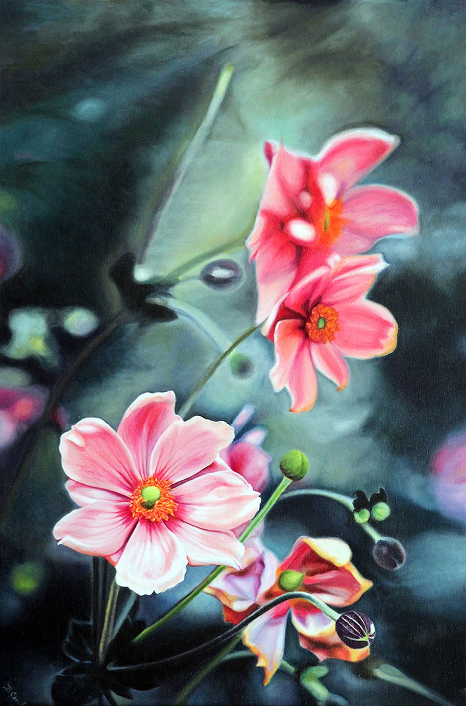 Mª Belén Corchero - Entre flores