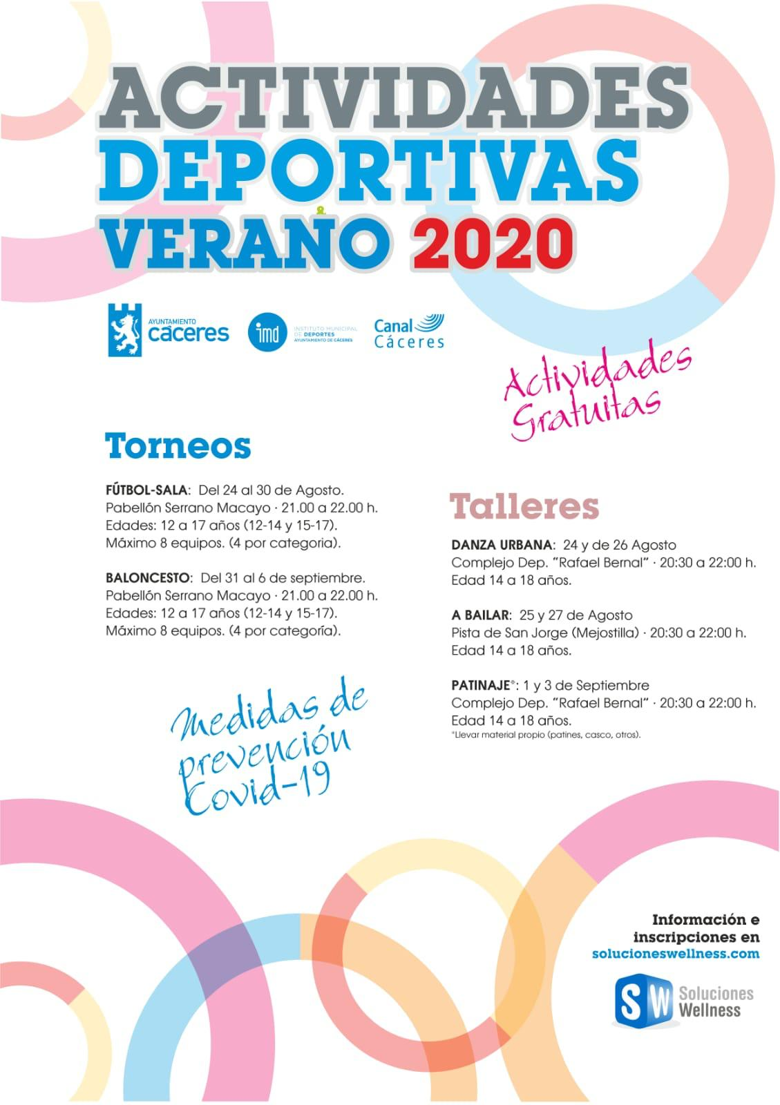 Actividades deportivas Verano 2020