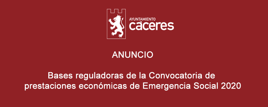 Convocatoria de prestaciones económicas de Emergencia Social 2020