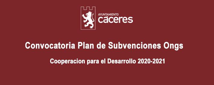 Convocatoria Plan de Subvenciones Ongs