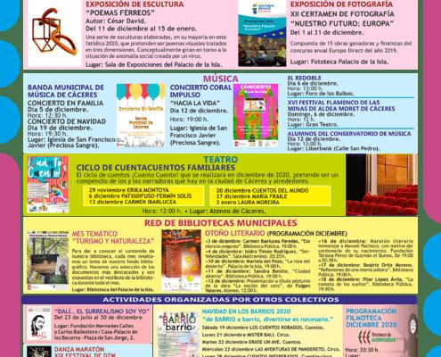 Agenda Cultural diciembre 2020