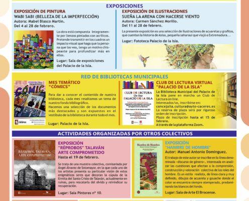 Agenda Cultural Febrero 2021