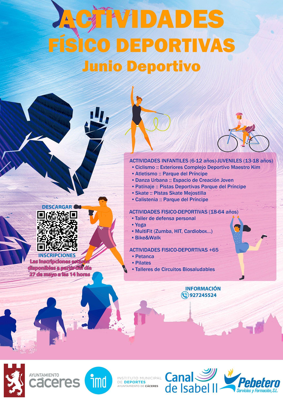 Cartel actividades deportivas