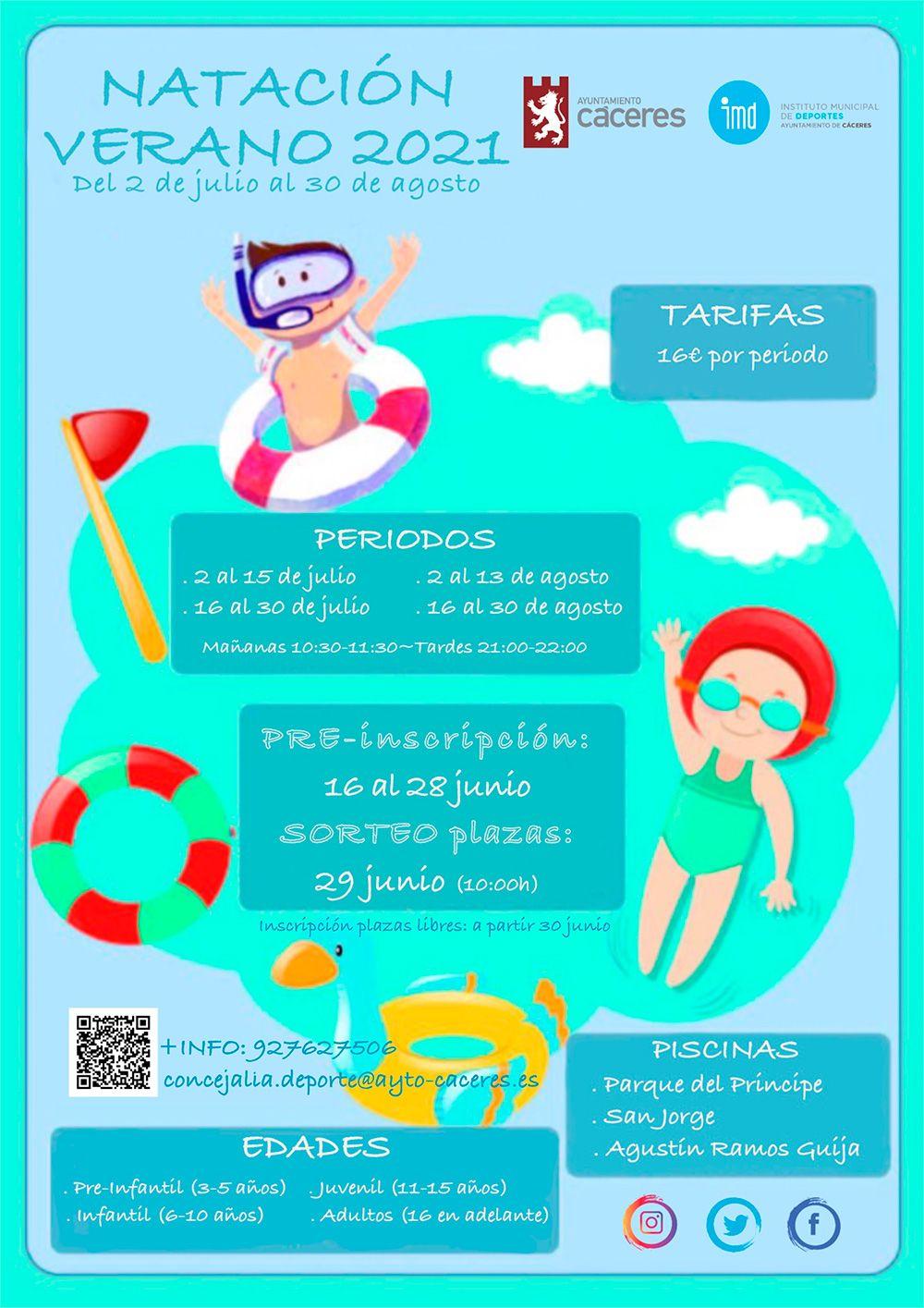 Cartel natación verano