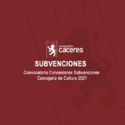 Subvenciones Cultura 2021