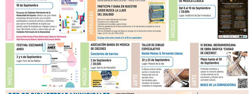 Agenda Cultural - Septiembre 2021