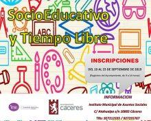 Recursos Socioeducativos para menores en la Ciudad. Curso 2019 – 2020