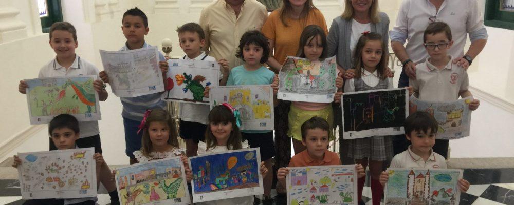 El Ayuntamiento entrega los diplomas a los premiados en el XIII Concurso infantil de dibujo 'San Jorge'