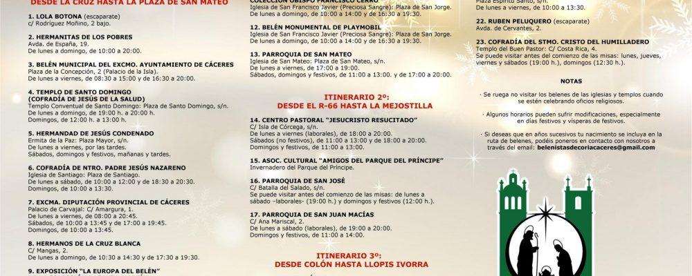 La segunda edición de la Ruta de Belenes 'Ciudad de Cáceres' contempla 3 intinerarios