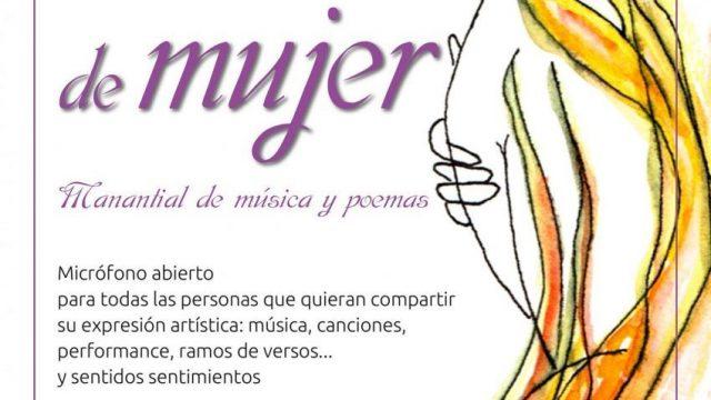 III Abrazo de Mujer: manantial de música y poemas. 8 de marzo Día Internacional de la Mujer