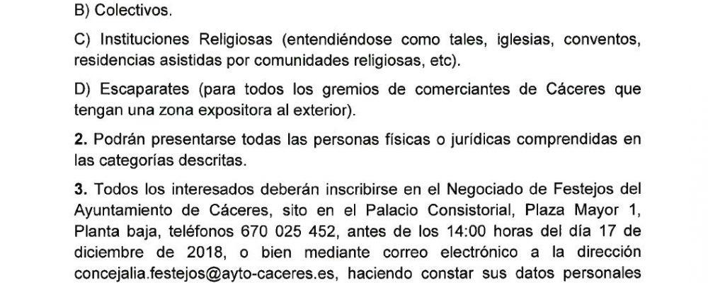 Abierto el plazo para participar en el XXVI Certamen de Belenes «Ciudad de Cáceres»