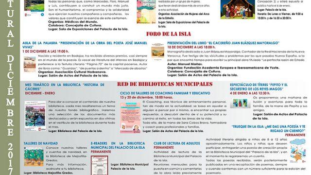 Agenda Cultural – diciembre 2017 y enero 2018