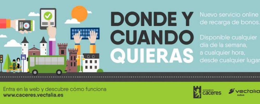 El servicio urbano de autobús contará con un sistema de recarga de bonobús on-line
