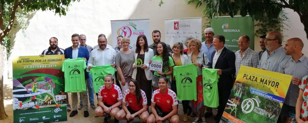 Cáceres, capital española del deporte femenino de la mano del Tour Universo Mujer