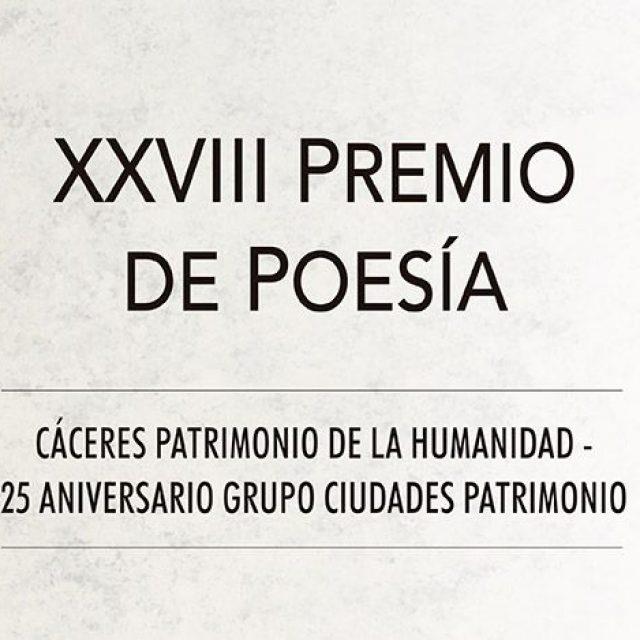 XXVIII Premio de Poesía Cáceres Patrimonio de la Humanidad