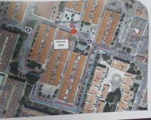 Corte de tráfico en la calle Río Vístula con motivo de las obras para sobreelevar el paso de peatones