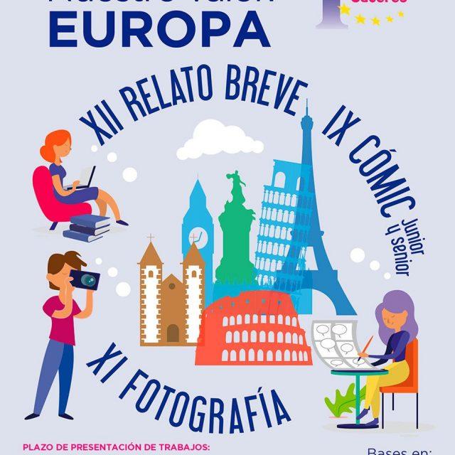 XII edición de relato breve, la XI edición de Fotografía y la IX edición de Cómic: Europe Direct