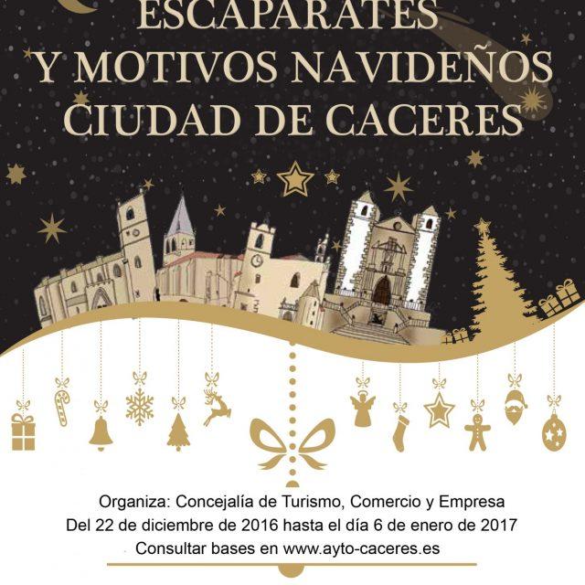 Concurso de escaparates y motivos Navideños de Cáceres 2016-2017