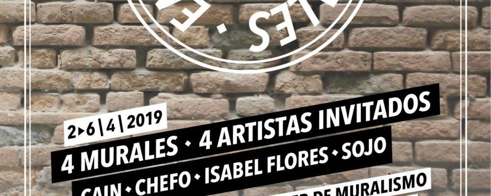 La alcaldesa asiste este sábado al taller práctico de la II edición '300 Murales en Las 300'
