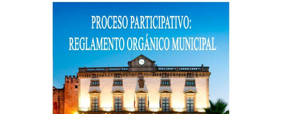 PROCESO PARTICIPATIVO: Reglamento Orgánico Municipal