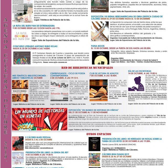 Agenda Cultural – Octubre 2019